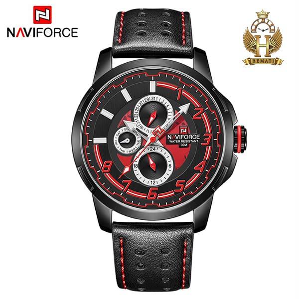 قیمت ساعت مچی مردانه نیوی فورس مدل naviforce nf9142m مشکی قرمز