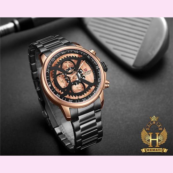 قیمت ساعت مردانه نیوی فورس مدل naviforce nf9150m مشکی رزگلد