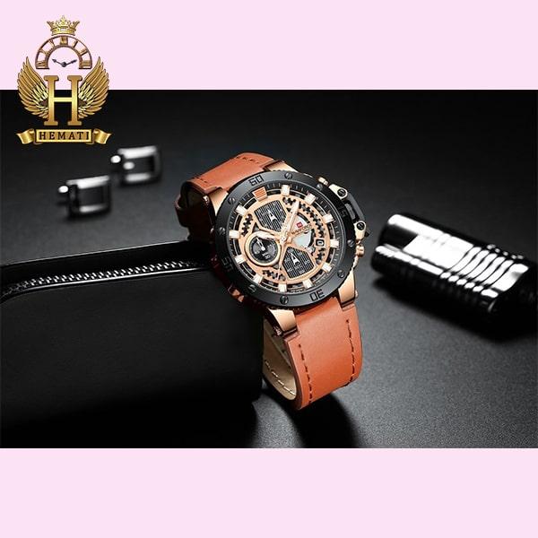 مشخصات ساعت مردانه نیوی فورس مدل naviforce nf9159m قاب مشکی و رزگلد با بند عسلی