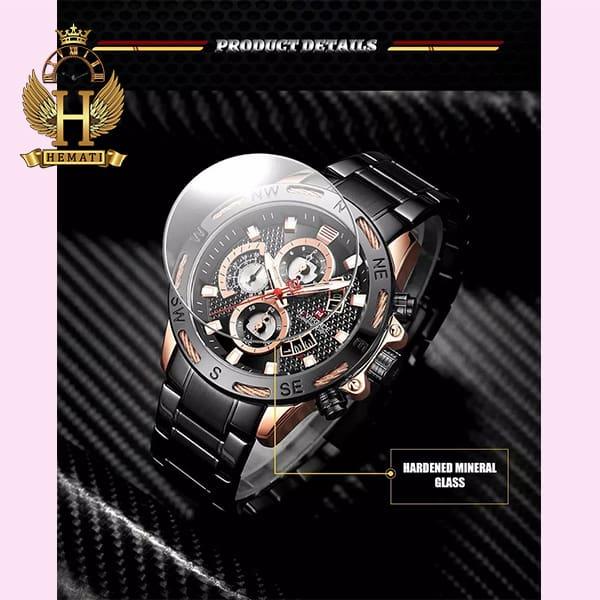 خرید اینترنتی ساعت مردانه نیوی فورس مدل naviforce nf9165m مشکی رزگلد