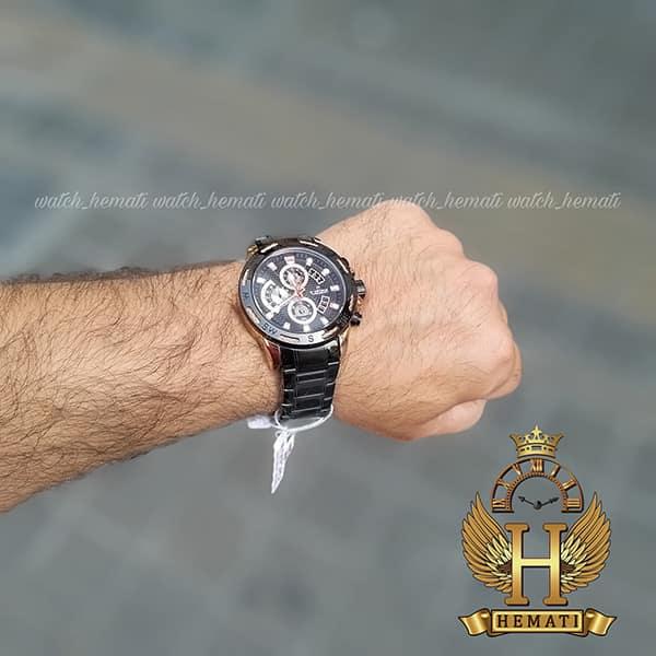 ساعت مردانه نیوی فورس مدل naviforce nf9165m مشکی رزگلد