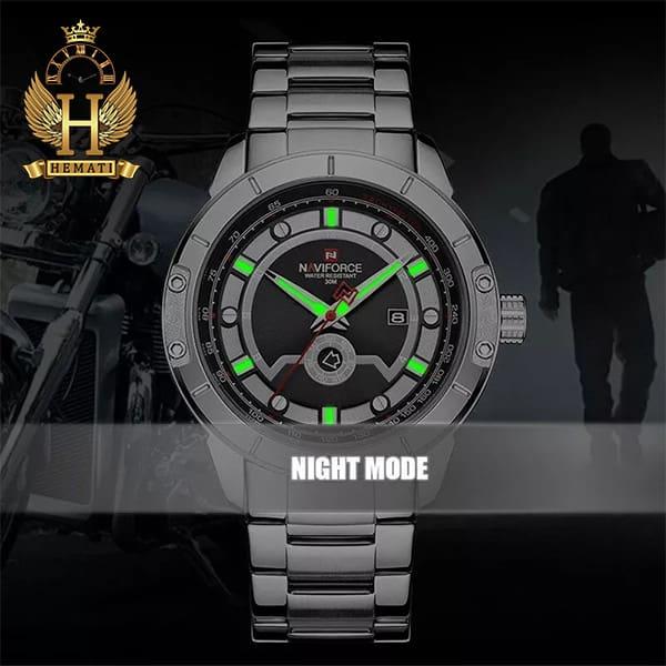 مشخصات ساعت مچی مردانه نیوی فورس مدل naviforce nf9117m مشکی رزگلد