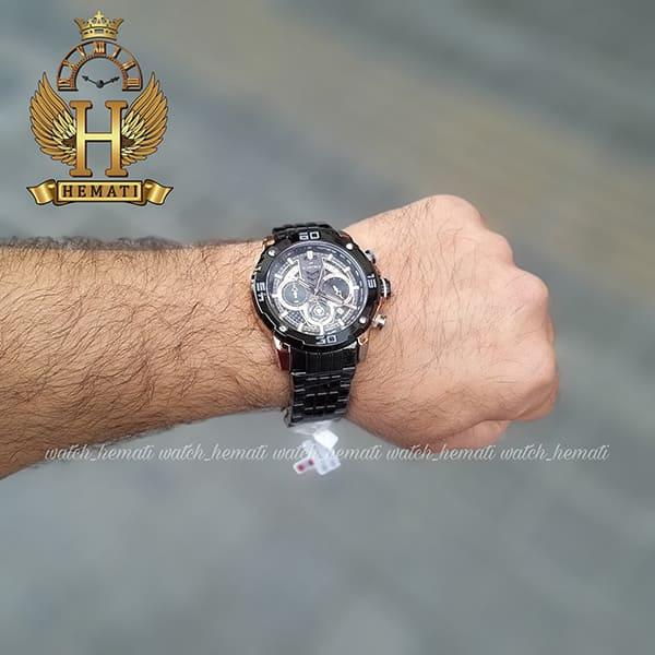 ساعت مردانه نیوی فورس مدل naviforce nf9175m مشکی رزگلد کورنوگرافدار
