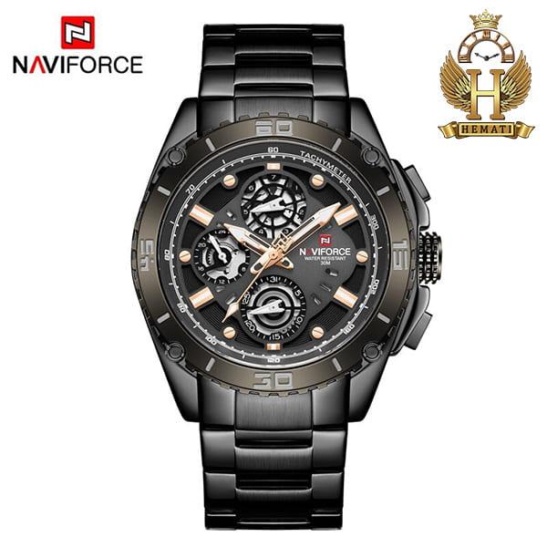 مشخصات ساعت مردانه نیوی فورس مدل naviforce nf9179m مشکی 3موتوره فعال
