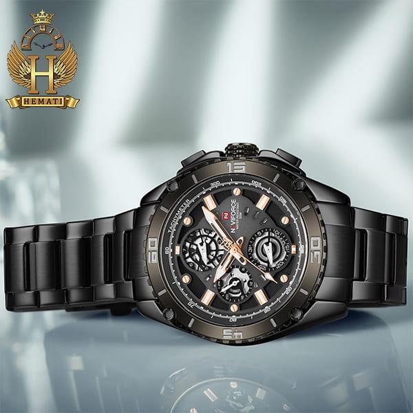 خرید ساعت مچی مردانه نیوی فورس مدل naviforce nf9179m مشکی 3موتوره فعال