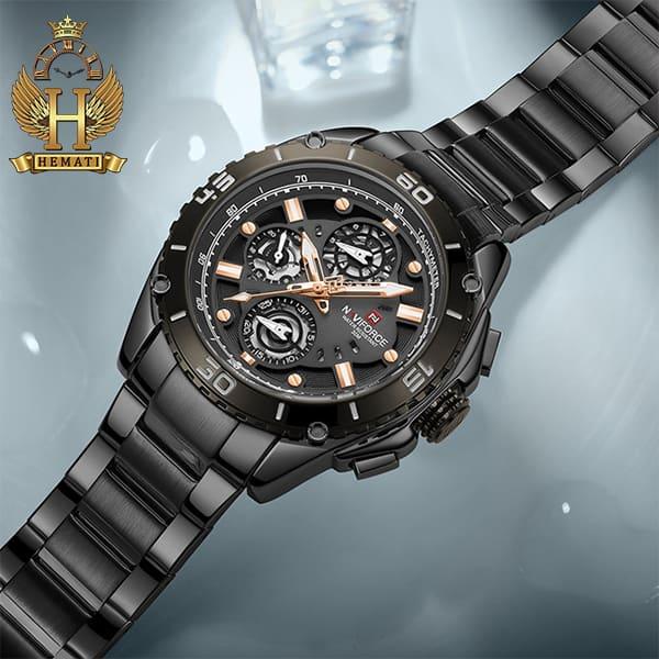 قیمت ساعت مچیمردانه نیوی فورس مدل naviforce nf9179m مشکی 3موتوره فعال
