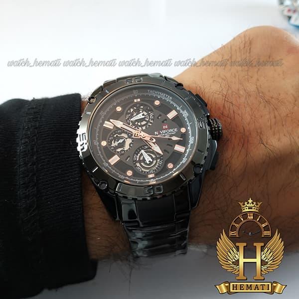 ساعت مردانه نیوی فورس مدل naviforce nf9179m مشکی 3موتوره فعال