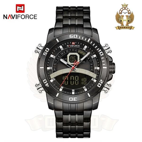 قیمت ساعت مردانه دو زمانه نیوی فورس مدل naviforce nf9181m قاب و بند کامل مشکی