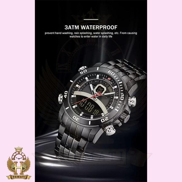 مشخصات ساعت مردانه دو زمانه نیوی فورس مدل naviforce nf9181m قاب و بند کامل مشکی