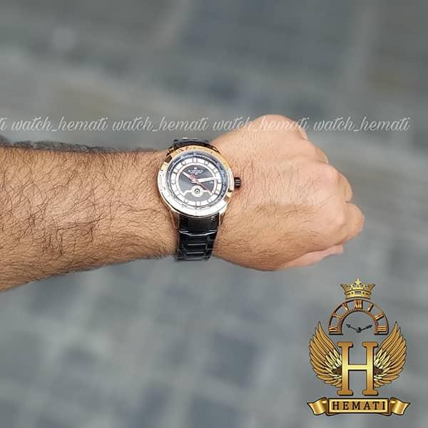 قیمت ساعت مردانه نیوی فورس مدل naviforce nf9166m مشکی رزگلد