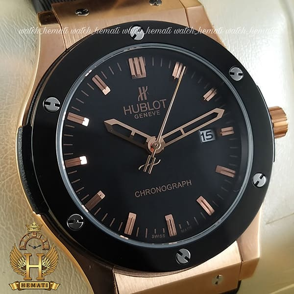 خرید ساعت هابلوت زنانه مدل HU1L400 تک موتوره رزگلد مشکی
