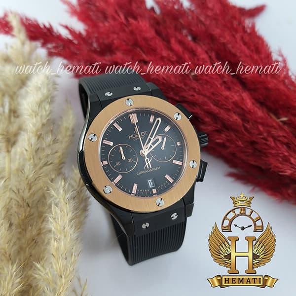 قیمت ، مشخصات ، ساعت زنانه هابلوت بیگ بنگ مدل HU3L105 Hublot سه موتوره مشکی رزگلد