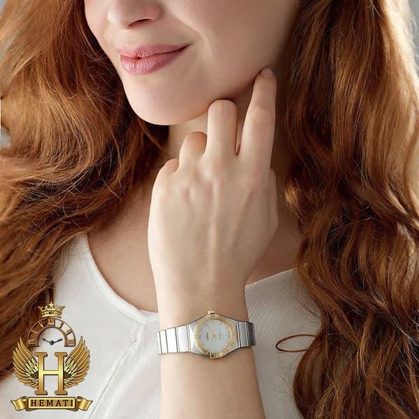 خرید ، قیمت ، مشخصات ساعت زنانه Omega Constellation نقره ای طلایی دورقاب ساده