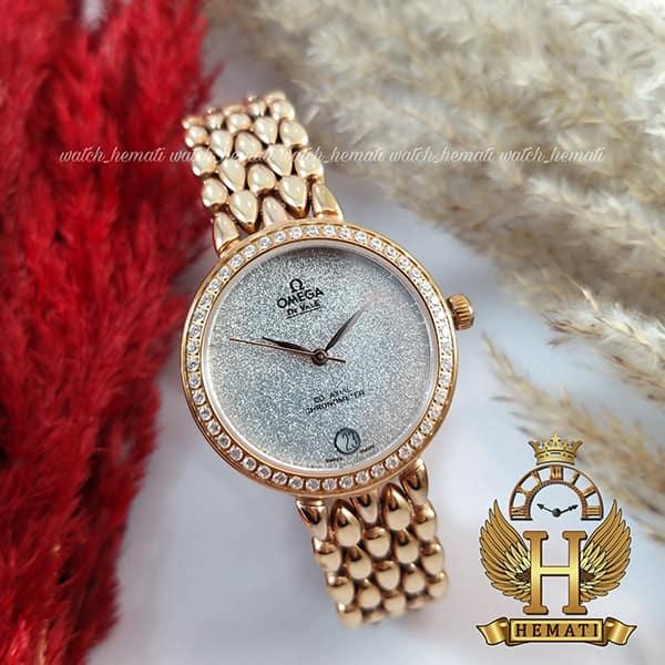 خرید ، قیمت ، مشخصات ساعت زنانه امگا دویل 8632G رزگلد صفحه شنی