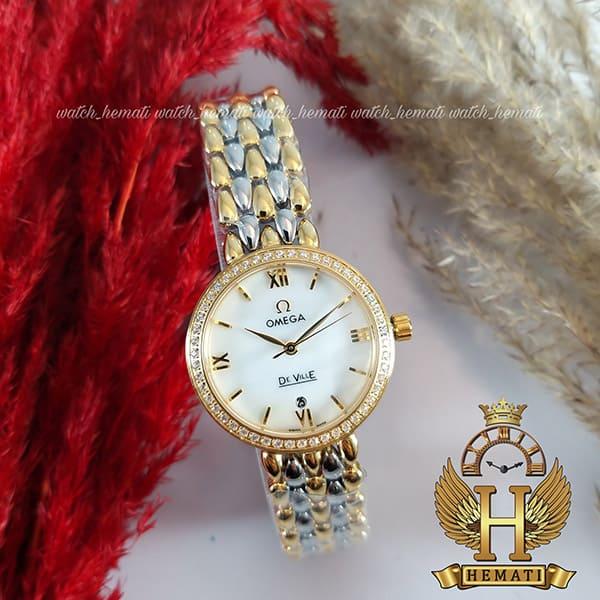خرید ، قیمت ، مشخصات ساعت مچی زنانه امگا دویل نقره ای طلایی