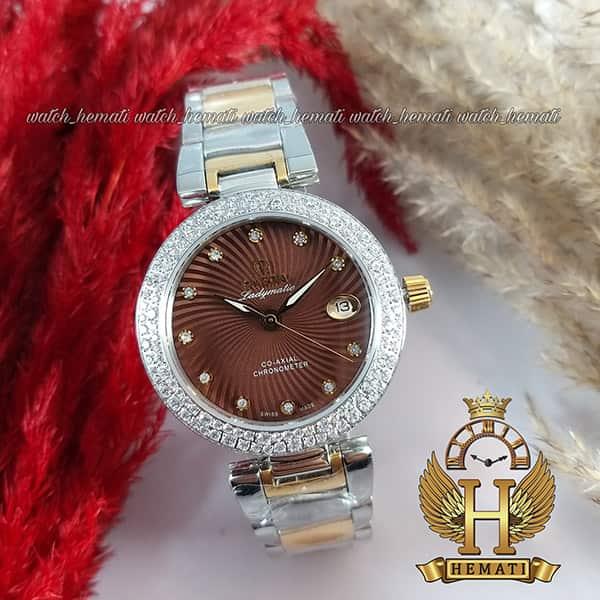 خرید ، قیمت ، مشخصات ساعت زنانه امگا لیدی ماتیک Omega Ladymatic نقره ای-طلایی صفحه ساعت قهوه ای