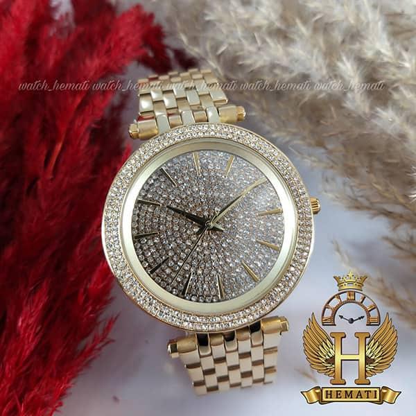 خرید ، قیمت ، مشخصات ساعت زنانه مایکل کورس طلایی مدل mk3438 طلایی