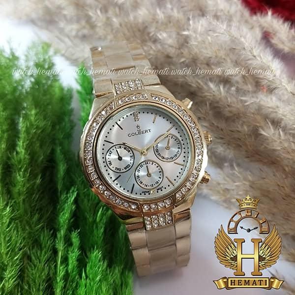 خرید ، قیمت ، مشخصات ساعت زنانه کلبرت 016L به رنگ طلایی