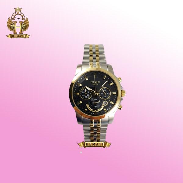 خرید ساعت مچی سیتیزن زنانه نقره ای طلایی صفحه مشکی
