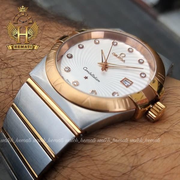 خرید ، قیمت ، مشخصات ساعت مردانه امگا کانسلیشن 80812496 نقره ای-رزگلد