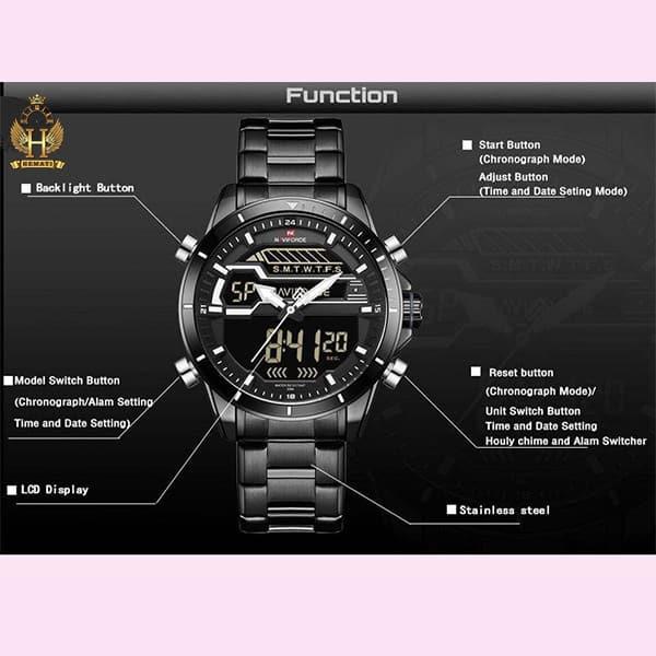 نمایندگی ساعت مردانه نیوی فورس مدل naviforce nf9133m مشکی