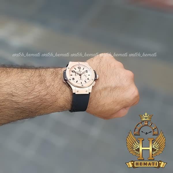 خرید اینترنتی ساعت هابلوت مردانه بیگ بنگ HU3M203 قاب رزگلد ،سه موتوره