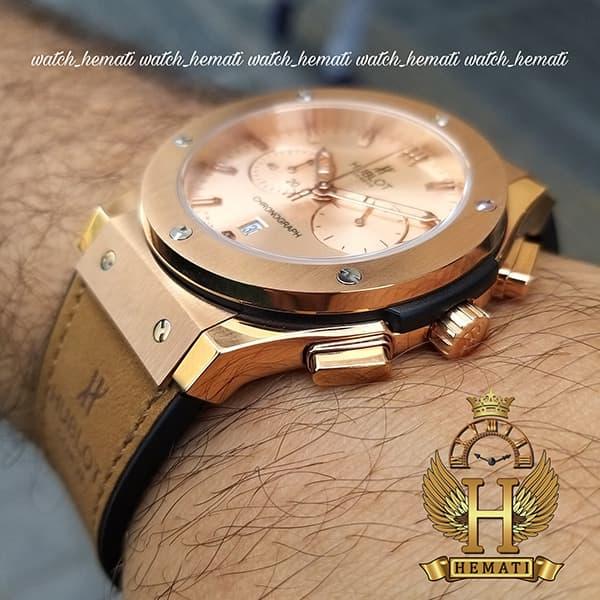خرید ساعت مردانه هابلوت HU3M104 Big Bang سه موتوره قاب و صفحه و قفل رزگلد