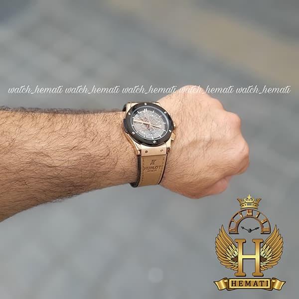 خرید ، قیمت ، مشخصات ساعت مردانه هابلوت مدل HU3AM203 سه موتوره صفحه اسکلتون