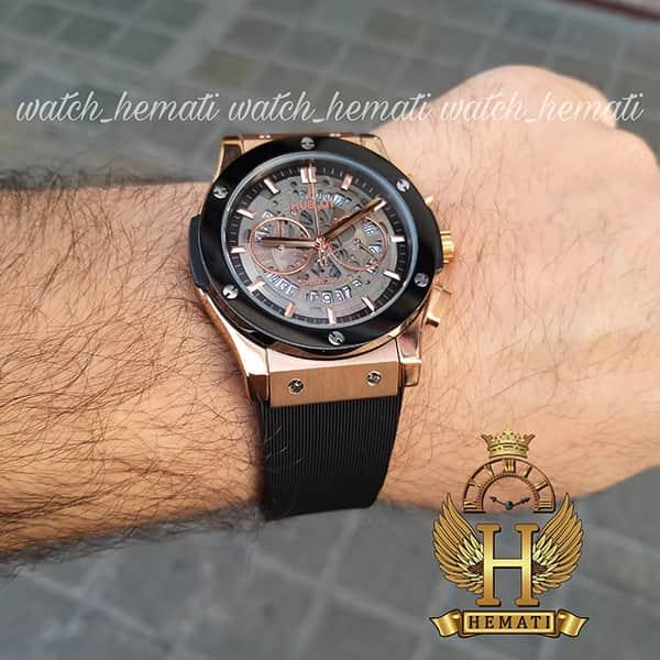 خرید انلاین ساعت مردانه هابلوت مدل HU3AM203 سه موتوره صفحه اسکلتون