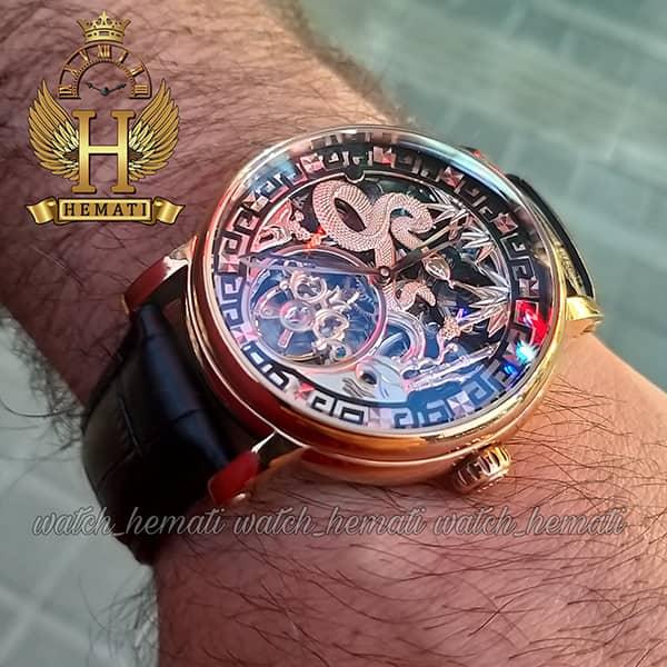 خرید ارزان ساعت مردانه پتک فیلیپ اتوماتیک Patek Philippe PP5052 صفحه اسکلتون طرح اژدها