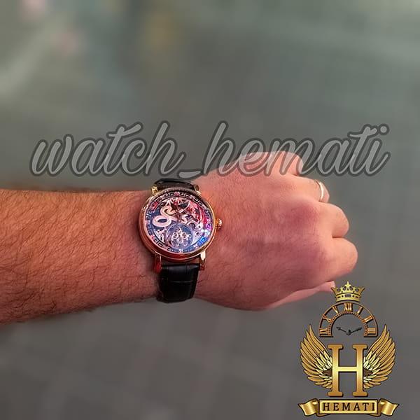 خرید اینترنتی ساعت مردانه پتک فیلیپ اتوماتیک Patek Philippe PP5052 صفحه اسکلتون طرح اژدها