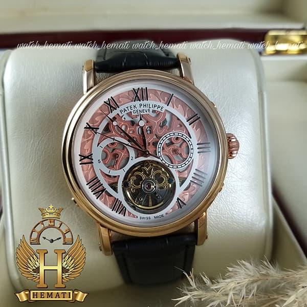 خرید ساعت مردانه پتک فیلیپ اتوماتیک Patek Philippe P83000 صفحه اسکلتون بند چرم مشکی