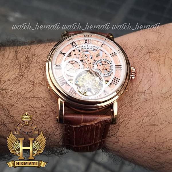 مشخصات ساعت مردانه پتک فیلیپ اتوماتیک Patek Philippe P83000 صفحه اسکلتون بند چرم قهوه ای
