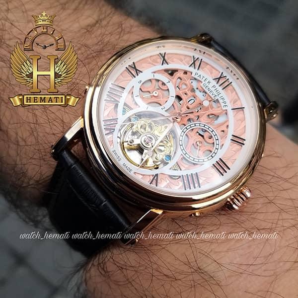 مشخصات ساعت مردانه پتک فیلیپ اتوماتیک Patek Philippe P83000 صفحه اسکلتون بند چرم مشکی