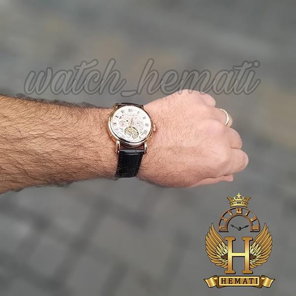 ساعت مچی مردانه پتک فیلیپ اتوماتیک Patek Philippe P83000 صفحه اسکلتون بند چرم مشکی