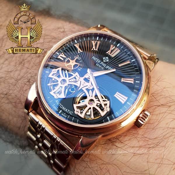 خرید اینترنتی ساعت مردانه پتک فیلیپ اتوماتیک Patek Philippe PF913 قاب و بند رزگلد دو توربو