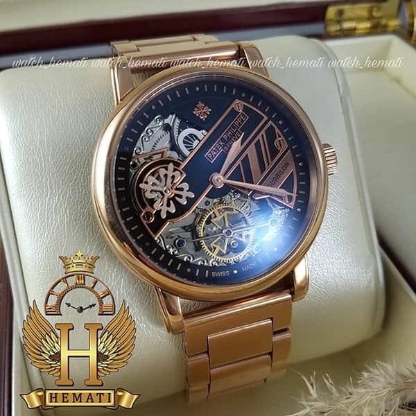خرید ساعت مردانه پتک فیلیپ اتوماتیک Patek Philippe 3005 بند استیل تمام رزگلد