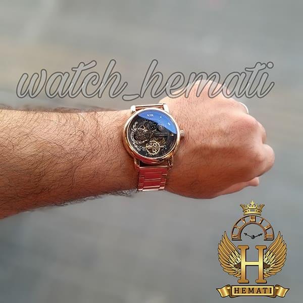 مشخصات ساعت مردانه پتک فیلیپ اتوماتیک Patek Philippe 3005 بند استیل تمام رزگلد
