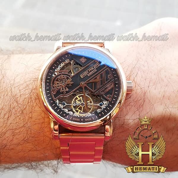 خرید ارزان ساعت مردانه پتک فیلیپ اتوماتیک Patek Philippe 3005 بند استیل تمام رزگلد