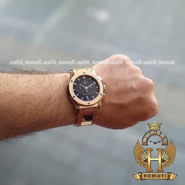 خرید ارزان ساعت مردانه هابلوت Hublot HU3M100رزگلد