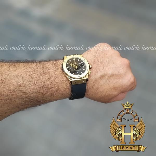 خرید ایترنتی ساعت هابلوت بیگ بنگ مدل HU3M106 قاب و قفل طلایی سه موتوره