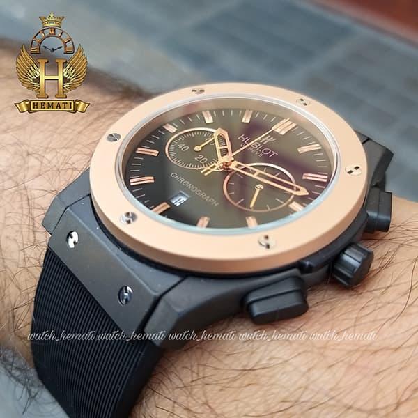 خرید ارزان ساعت هابلوت بیگ بنگ مدل HU3M107 قاب مشکی دور قاب رزگلد مات سه موتوره