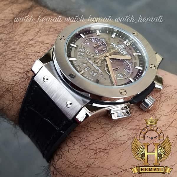 قیمت ساعت مردانه هابلوت سه موتوره مدل Hublot HU3AM202 صفحه اسکلتون