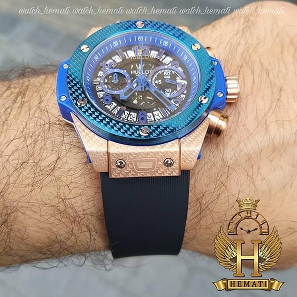 خرید انلاین ساعت هابلوت مدل بیگ بنگ Hublot Big Bang HU3M201 قاب رزگلد و سرمه ای