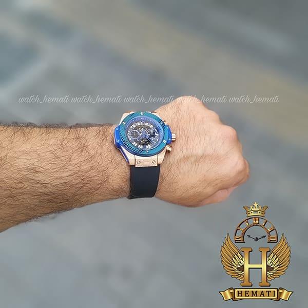 خرید اینترنتی ساعت هابلوت مدل بیگ بنگ Hublot Big Bang HU3M201 قاب رزگلد و سرمه ای