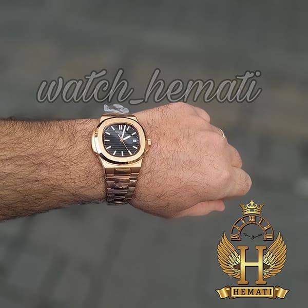 خرید ، قیمت ، مشخصات ساعت مردانه پتک فیلیپ ناتیلوس Patek Philippe Nautilus اتوماتیک PPN384 قاب و بند استیل رزگلد
