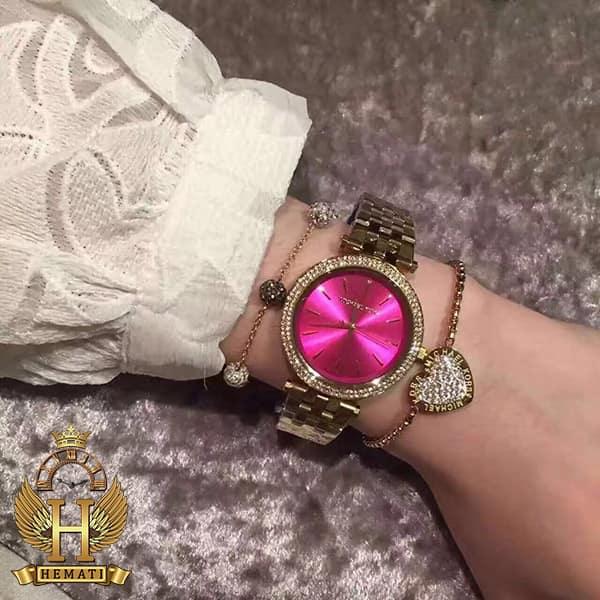 خرید ساعت مچی زنانه مایکل کورس Michael Kors MK3444 طلایی صفحه صورتی