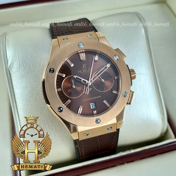 خرید ، قیمت ، مشخصات ساعت زنانه هابلوت بیگ بنگ مدل HU3L104 سه موتوره قهوه ای سوخته
