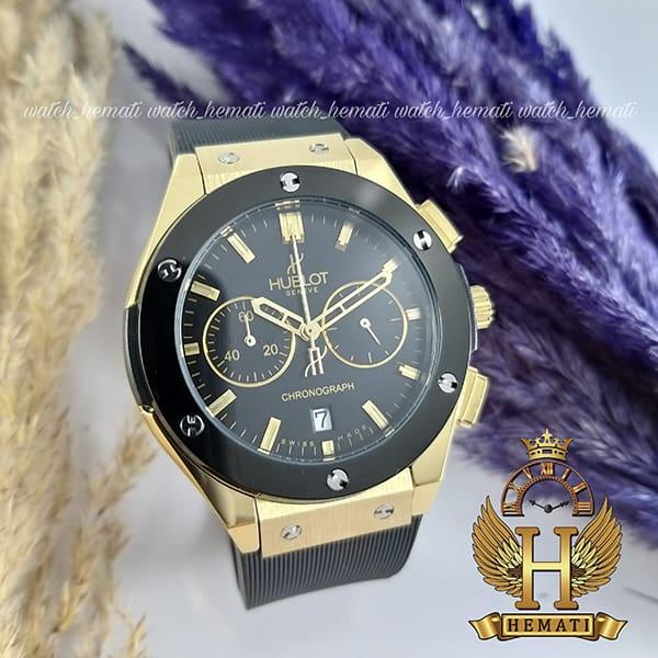 خرید ، قیمت مشخصات ساعت هابلوت زنانه بیگ بنگ HU3L103 مشکی طلایی