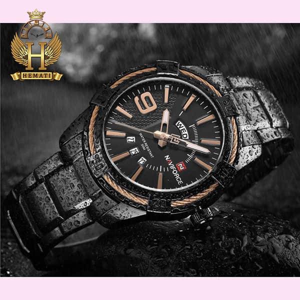 مشخصات ساعت مردانه نیوی فورس مدل naviforce nf9117m مشکی رزگلد